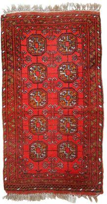 Tapis vintage Afghan Ersari fait main, 1C668