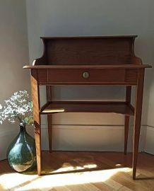 Coiffeuse ou bureau vintage en chêne