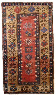 Tapis ancien Caucasien Kazak fait main, 1B760