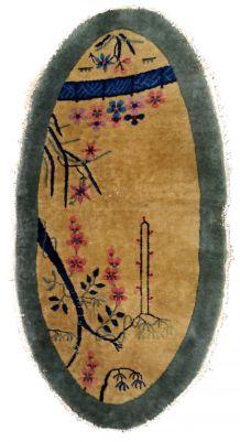 Tapis ancien Chinois Art Deco fait main, 1B761