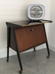 TABLE D'APPOINT MEUBLE TV BUREAU ANNEE 50 VINTAGE SCANDINAVE