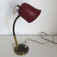Lampe de bureau lie de vin vintage 1950 - 35 cm