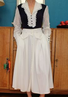 BODIE BRODERIE ANGLAISE ANNEE 60-70