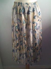 Jupe à plie femme imprimé bleu taille M Guca