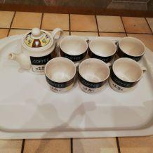 Service à café (6 tasses et verseuse)