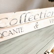 """Panneau déco en bois """"Collection brocante et vintage"""""""