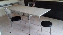 Table formica blanc