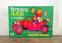 """Timbres à imprimer """"autos"""" de Fernand Nathan - Années 70"""