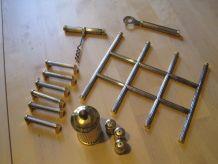 Ensemble de  table  métal argentée dorée
