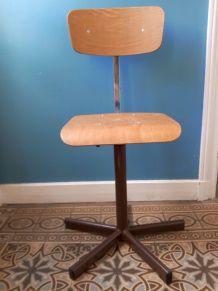 Chaise industrielle d'atelier, de bureau