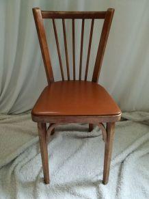 chaise baumann bistrot avec skai marron chocolat