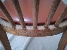 chaise baumann bistrot skai marron chocolat