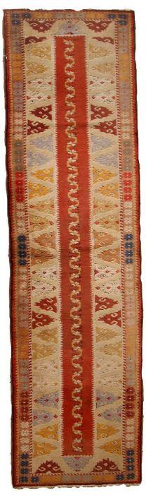 Tapis vintage Turc Melas fait main, 1C689