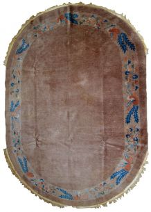 Tapis ancien Chinois Art Deco fait main, 1B801