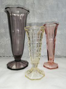 """Trio de vases """" tulipe"""" années 50"""