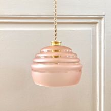 Baladeuse / suspension globe ancien verre