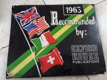 Plaque émaillée  1963