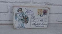 tableau rétro carte postale en bois