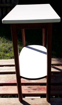 console bois et formica blanc année 50 /60