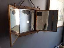 Miroir de barbier japonisant. Triptyque  Époque Napoléon III
