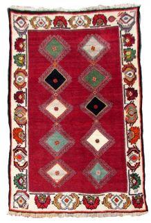 Tapis vintage Persan Gabbeh fait main, 1Q0037