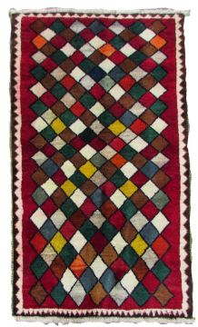 Tapis vintage Persan Gabbeh fait main, 1Q0092