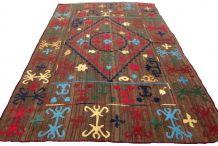 Tapis vintage Afghan fait main, 1Q0109