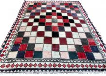 Tapis vintage Persan Gabbeh fait main, 1Q0123