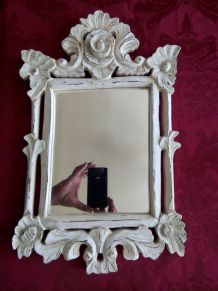 Miroir en bois laqué