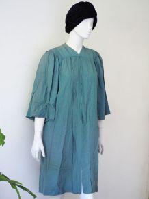 Manteau cape robe de chœur/diplômé vert d'eau vintage 50's