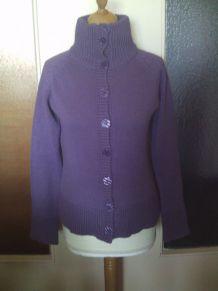Veste en laine violet taille 40/42 Sans marque