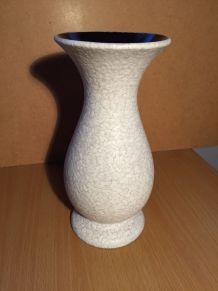 Ancien Vase en Céramique Blanc/Gris - Numéroté