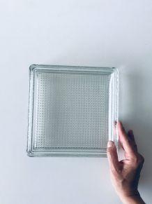 Vide poche pavé de verre carré
