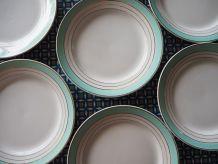 Assiettes plates Luneville