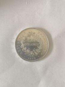 Pièce 50 francs Hercule argent de 1975