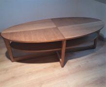 table basse scandinave 130x42x66   1975  vintage tres belle