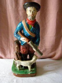 Art Déco: Ancienne statue en plâtre hauteur 50cm
