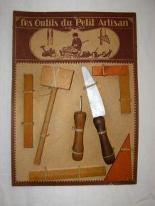 Ancien jouet Loly : panoplie Les Outils du Petit Artisan