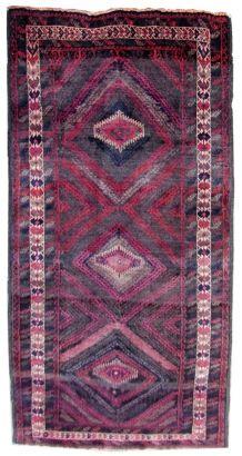 Tapis vintage Afghan  Baluch fait main, 1Q0212