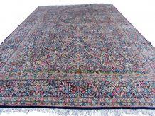 Tapis vintage Persan Kerman fait main, 1Q0226