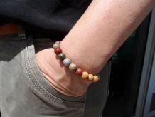 bracelet femme pierre Jaspe de Picasso