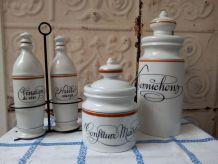 Lot de porcelaine d'AUTEUIL Design Bistrot
