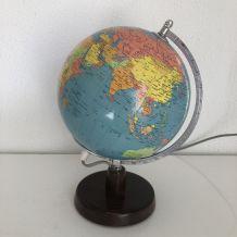 Globe terrestre de Räth ex-RDA verre vintage 1977 - 32 cm