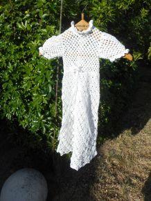 robe de bapteme faite main