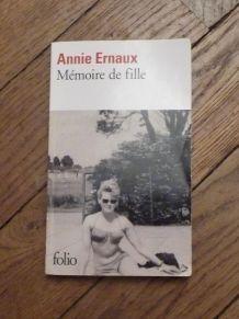 Mémoire De Fille- Annie Ernaux- Editions Gallimard- Folio