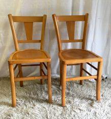 Paire de chaises bistrot – années 60