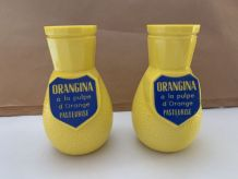 Lot de 2 porte-pailles ORANGINA collector