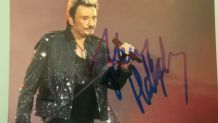 photo signée Johnny HALLYDAY en concert