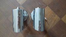 2 Appliques en acier inoxydable années 80