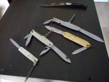 lot couteaux de poche